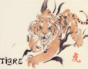 Le signe astrologique Tigre